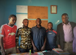 Members of the Irrigators Cooperative council in their office