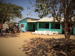 Private rice warehouse in the village without enough storage capacity